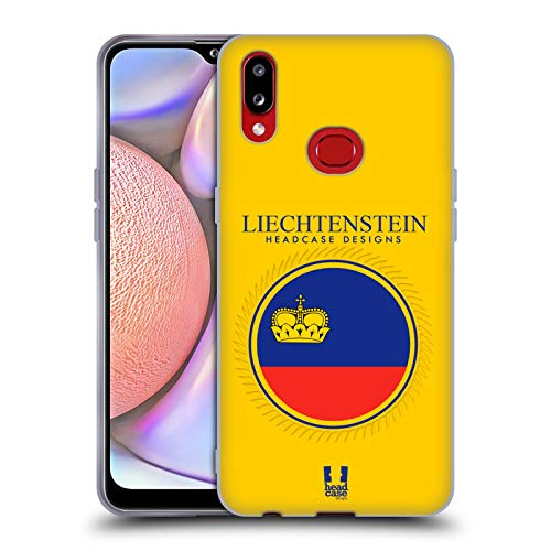 Head Case Designs Fahne Liechtensteins Fahne Flicken 2 Soft Gel Handyhülle Hülle Huelle und Passende Designer Hintergrundbilder kompatibel mit Samsung Galaxy A10s (2019)