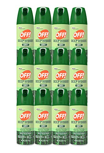 OFF! Deep Woods Dry Aerosol Insect Repellent, 2.5 Ounce (12 Count)