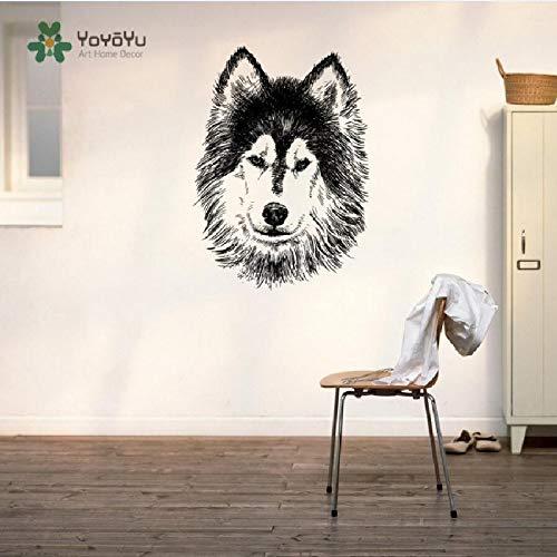 Tatuajes de Pared Vinilo Adhesivo Husky Siberiano Perro Cachorro Raza Mascota Animal...