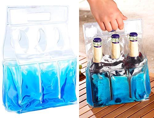 PEARL Getränke Tragetasche: Kühl-Tragetasche für 6 Flaschen oder Getränkedosen (Kühltasche für 6 Flaschen)