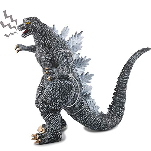 Standing Figure with Movable Limbs Dinosaur Model Action Figures Dino Toy for Kids Boys (Grey)