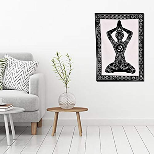 Yellowline Psychedelic Buddha Tapestry Yoga Meditation Tapestries Trippy Buddhism Tapestry Hippie Bohemian Tapestry Wall Hanging for Room (POSTER (77X102CM))