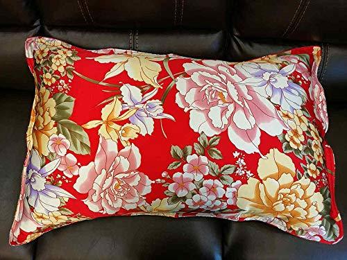 Silk Pillowcase 100% Silk Color Pillowcase Oxford 2-Sided Envelope Design Pillowcase-Number 4_Queen