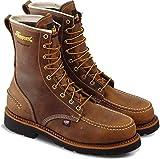 Thorogood 804-3898 Men's 1957 Series - 8' Moc Toe, MAXWear90 Waterproof Safety Toe Boot, Crazyhorse - 9.5 W US