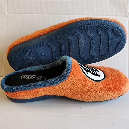 Zapatillas Kanji Kame inspiradas en Dragon Ball cómodas casa Goku (Numeric_44)