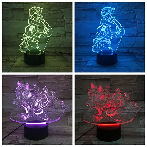 Nur 1 Tischlampe Schlafzimmer Touch Sensor Farbe Ändern des verlorenen Abenteuers EZ Ezreal LED Nachtlicht