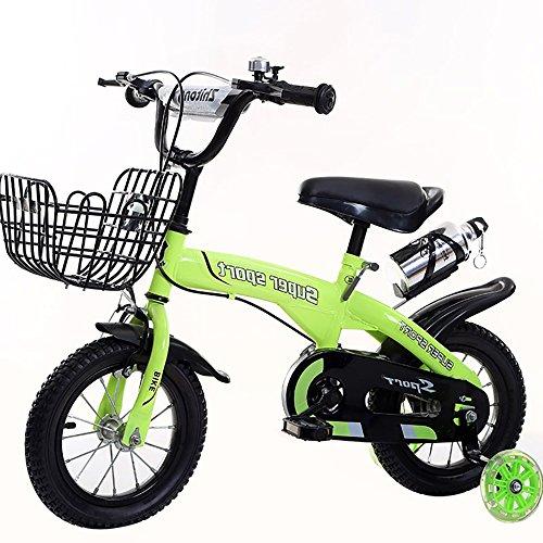 Bicicletas Para Niños, Bicicleta De Acero De Alto Carbono Con Estabilizadores De...