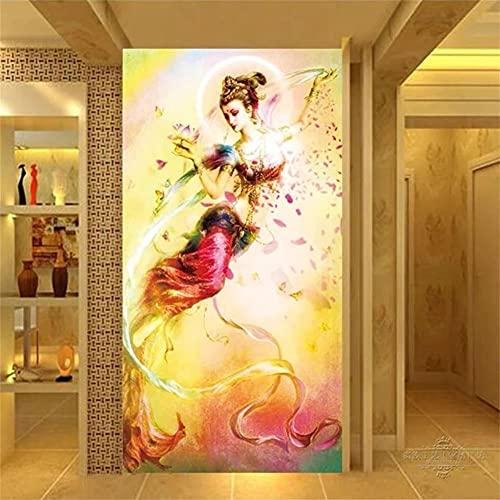DIY 5D adultos pintura de diamantes kit completo Figura religiosa niña 80x160cm square drill 5D diamond painting Crystal Rhinestone Embroidery Arts Craft para la decoración de la pared del hogar