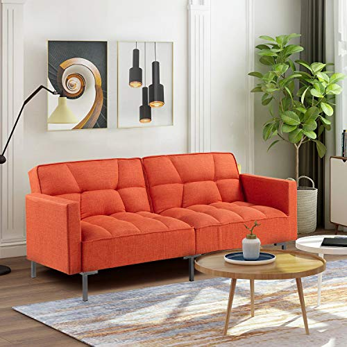 78.35' Sleeper Sofa Couches and Sofas - Couch Recliner Convertible Sofa Modern Adjustable Futon Couches Sofas Bed for Living Room Fold Up and Down Recliner Couch