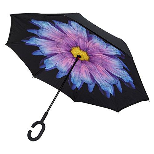 C-Brella® EU Umgekehrter Regenschirm, Sturmsicherer Umgedrehter Regenschirm mit Doppelschicht für Auto- und Outdoor-Nutzung …