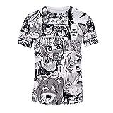 Ahegao Anime Camiseta Unisex Casual Gráficos Difusa Hip-Hop De Manga Corta Camiseta Impresa En 3D Top De Verano XXS-5XL H M