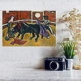 Weiteng Lienzo Impresión de Pared España Cartel taurino Tela de Pared Carteles e Impresiones de Tela Hogar Cafetería Bar Decoración Pintura 50x70cm (19.68x27.55 in) A-310