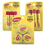 Carmex Medicated Lip Balm Variety Pack, Lip Moisturizer for Dry, Chapped Lips: Carmex Classic Sticks 0.15oz, 3 count, Carmex Classic Tubes 0.35oz, 3 count, Carmex Classic Jars 0.25oz, 3 count