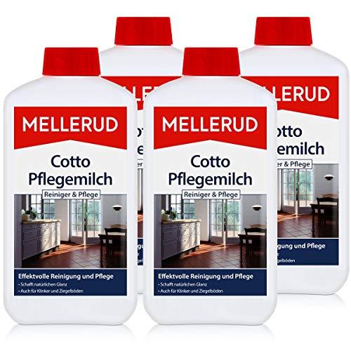 4x Mellerud Cotto Pflegemilch 1L - Schutz und Glanz