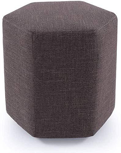 QFLY Sgabello Alto Semplice Moderna Esagonale Sgabello poggiapiedi Multifunzionale Lavabile Scarpe da banco in Camera Lavabile in Tessuto Divano a Panca Sgabelli per contatore della Cucina