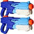 MeiGuiSha 2 Pack Squirt Guns Water Guns for Kids Adults Water Blaster 600ml High Capacity Fast Trigger Summer Toy for Swimming Pools Party Outdoor Beach Sand Water Fighting Toy