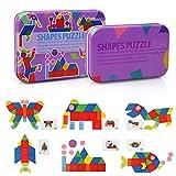 LinStyle Juguetes Niños 2 Años, Tangram Puzzle, Puzzles De Madera Bloques De...