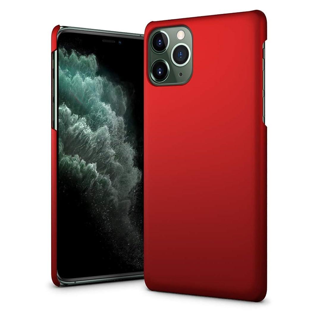 お客様視力不安定iPhone 11 Pro Max ケース 【SLEO】PCバックカバー 6.5 インチ iPhone 11 Pro Maxケースカバー ソフト クリアスタル 超薄型 最軽量 スリムハードラバーiPhone11 Pro Maxカバー(レッド)