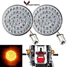 Eagle Lights 2 inch Bullet Style LED Rear Amber Turn Signals (Bikes With Rear Center Tail Light) - (2) Rear Turn Signals Harley (96-13 Softail, Sportster, Dyna, Road King and More) with Smoked Lenses