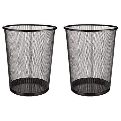 EUROXANTY® Papeleras de oficina | 27 x 24 cm | Papelera circular de rejilla metálica | Papelera...