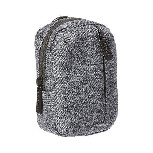 AmazonBasics – Kameratasche mit Reißverschlussfach vorn, hochwertiger, wasserabweisender Polyester, Aschgrau