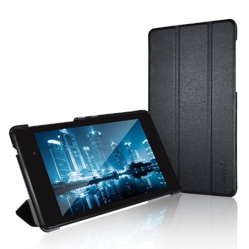 JETech Gold Slim-Fit Smart Case Cover for Google Nexus 7 2013 Tablet w/Stand and Auto Sleep/Wake Function (Black)