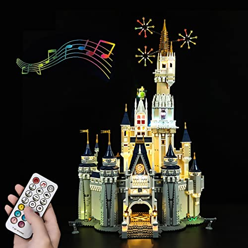 Hosdiy Telecomando Suoni Luci LED Light Kit Compatibile con Lego 71040 Castello Disney - Luci LED Kit (Solo Luci, Senza Lego Modello)
