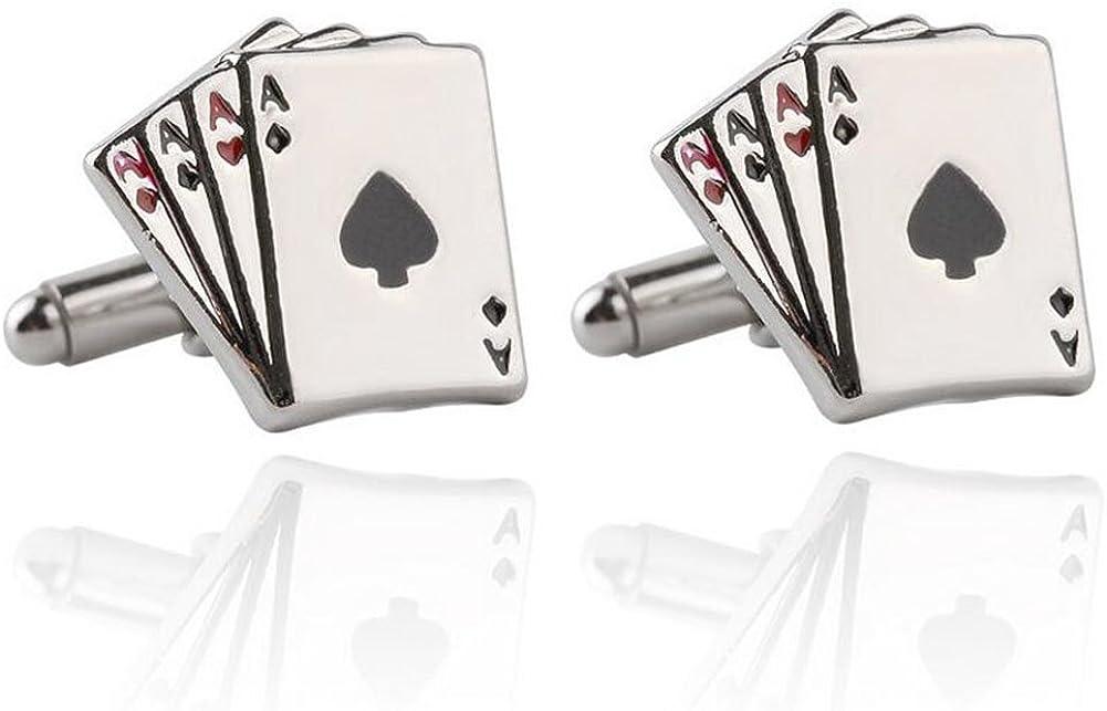 Yonger Cufflinks Classic Poker Cuff Button Suit Shirt Men Cufflinks Accessories