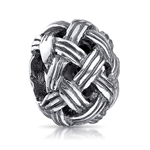 MATERIA 925 sterling zilveren kralen bol - Charms hanger wolbol antiek voor kralen armband 929