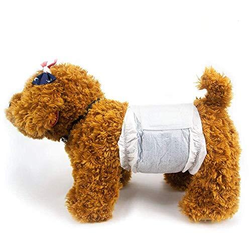 Dono Pannolini USA e Getta per Cani Maschi.Eliminazione di Odori Deodoranti Pannolini per Cuccioli con Tecnologia a Base di Polimeri di Carbone di bambù Impacchi Super Assorbenti Maschi