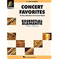 Concert favorites vol. 1 - eb alto clarinet clarinette (Essential Elements 2000 Band)