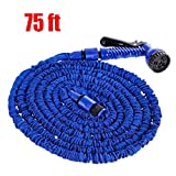 "75 FT Garden Hose, Water Hose, Lightweight Expandable Garden Hose with 3/4"" Solid"