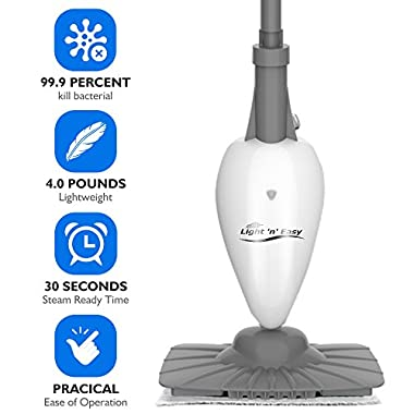 Steam Mop - Steam Cleaner Steam Mops for Floor Cleaning with 7.4 Ounces Tank, Floor Steam Cleaner Steam Floor Cleaner with 19.6FT Cord, 1 Cleaning Pads Included, without Carpet Gilder, 1 Year Warranty