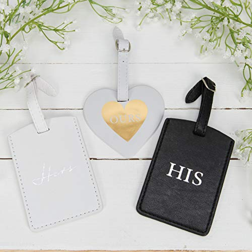 The Gift Experience Set of 3 Leatherette His, Hers and Ours Luggage Tags