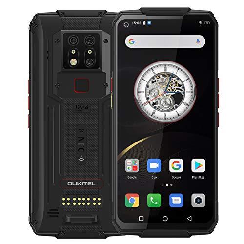 OUKITEL WP7 Outdoor Handy Ohne Vertrag,6,53'' FHD+ Helio P90 8GB 128GB Rubust Smartphone,48MP Hintere DREI Kameras+8MP IR Nachtsichtkamera,8000mAh Akku 4G Dual SIM Outdoor Smartphones,NFC, Schwarz