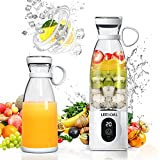 Leegoal Portable Blender, Personal Hand Blender for Smoothies and Shakes, IPX7 Blender Bravo, 6 Blades Mini Smoothie Juicer Cup 18 Oz 300 Watts Motor Work POWERFULLY as Countertop Blender