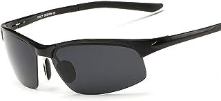 ValueYee サイクリングランニング釣りゴルフビーチを運転するための男性の偏光クラシック100%UV保護サングラス、明確なアンチフォグスクラッチ耐性ラップアラウンドレンズ付きファッションスタイルValueYee