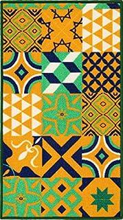 50x80, D TREND Tappeto Bagno Cucina PASSATOIA Multiuso Piastrelle MAIOLICHE CEMENTINE AZULEJOS MOD.FAKIRO36 Tessitura Piatta Made in Italy