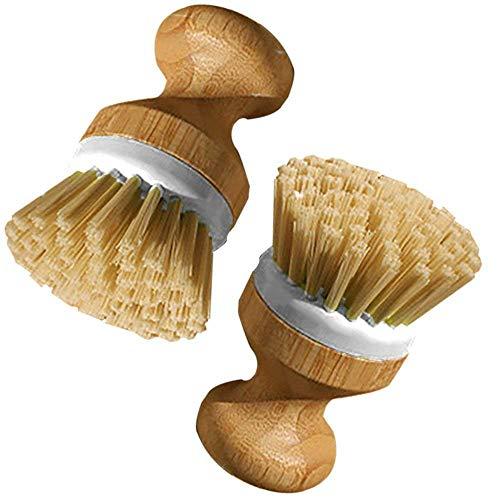Cepillo de platos con mango de madera para plato copa ollas sartén vajilla utensilios de cocina limpieza