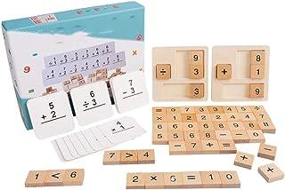 Tomaibaby Houten Wiskunde Speelgoed Tellen Blokken en Kaarten Montessori Speelgoed Vroeg Leren Speelgoed Tellen en Rekenen...