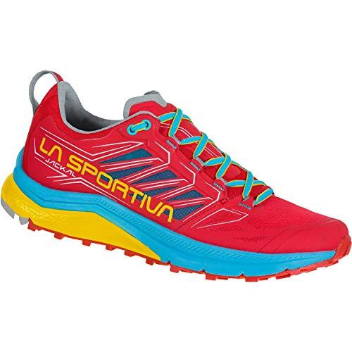 LA SPORTIVA Jackal Woman, Zapatillas de Trail Running Mujer, Hibiscus/Malibu Blue, 39.5...