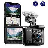 AZDOME Autokamera mit 4K Auflösung, WiFi Dashcam mit GPS und Loop-Aufnahme, Dash Cam mit 170° Weitwinkelobjektiv und Nachtsicht, Dash Camera mit G-Sensor, Parkmonitor und Bewegungserkennung(GS63H)