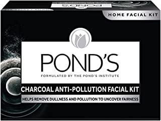 POND'S Charcoal Anti-pollution Home Facial Kit- With Cleanser, Scrub, Revitalizing cream, Massage Cream, Mask & Finishing...