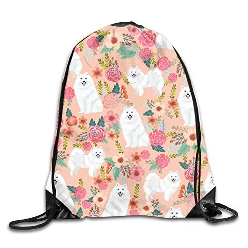 OMGiHome Japanese Spitz Rucksack Gymsack Pack Weiß, Unisex Kordelzug Schulterrucksäcke Kordelzug Taschen Lässige Reisetaschen Umhängetasche Beam Port Rucksack Tote Canvas Bag Aufbewahrungstasche