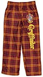 Intimo Harry Potter Big Boys Houses Plaid Pajama Lounge Pants (Gryffindor, M-8)