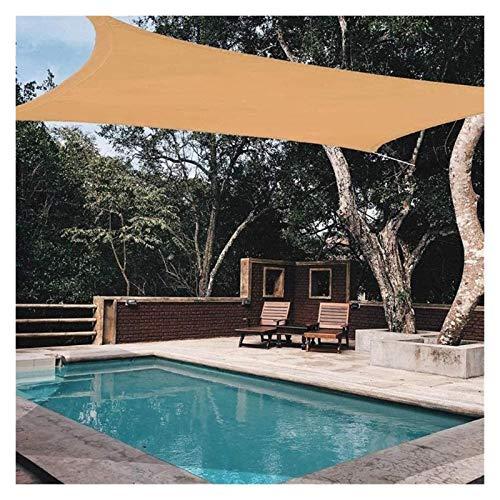 ZXD Vela De Sombra Rectángulo HDPE Toldos para Sombrillas Resistente Al Agua 98% De Bloqueo UV Proteccion Solar, para Jardín Al Aire Libre Instalaciones Y Actividades (Color : Sand, Size : 3x4m)