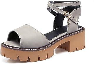 BalaMasa Womens ASL06161 Pu Platform Heels