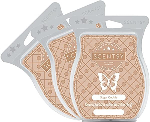 Scentsy Sugar Cookie Wickless Candle Tart Warmer Wax 3 2 Oz Bar 3 Pack 3 Brown