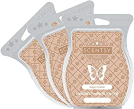 Scentsy, Sugar Cookie, Wickless Candle Tart Warmer Wax 3.2 Oz Bar, 3-pack (3),Brown