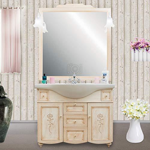 Shop Chic Arredo Bagno Classico decapè con lavabo in Ceramica e specchiera